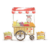 Fruit Shop on wheels. Royalty Free Stock Images