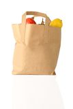 Fruit shopping bag - front view Stock Photo