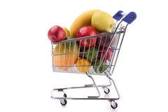 Fruit in shopping cart Royalty Free Stock Image