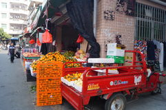 Fruit shops in the streets Stock Image