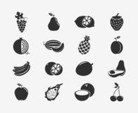 Fruit Silhouettes Icons Stock Photo