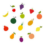 Fruit Silhouettes Stock Images