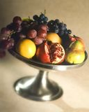 Fruit in a silver bowl Royalty Free Stock Photo