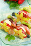 Fruit skewer Royalty Free Stock Photography