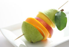 Fruit on skewer Royalty Free Stock Photography