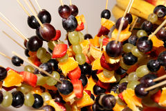 Fruit skewers Royalty Free Stock Images
