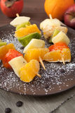 Fruit skewers Stock Photo