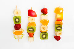 Fruit skewers the concept of healthy eating Royalty Free Stock Image