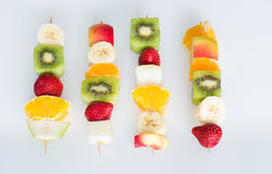 Fruit skewers the concept of healthy eating Stock Photo