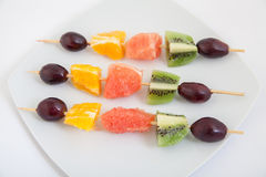 Fruit on the skewers Royalty Free Stock Photos
