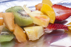 Fruit skewers Royalty Free Stock Photos