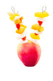 Fruit skewers Royalty Free Stock Photography