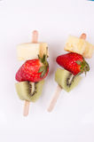 Fruit skewers Stock Image