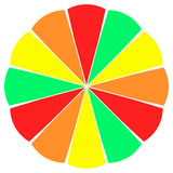 Fruit Slice Color Wheel Stock Image