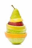 Fruit sliced and. Isolated on white background Stock Image