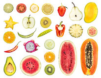 Fruit sliced Royalty Free Stock Photography