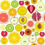 Fruit Slices Background Pattern. Vector Royalty Free Stock Photography