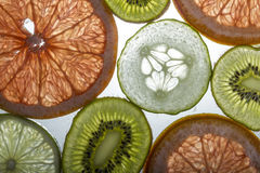 Fruit Slices. How about a few slices of fresh, healthy fruit Stock Images
