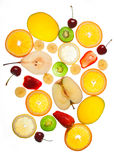 Fruit slices isolated Stock Photo