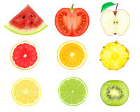 Fruit slices Royalty Free Stock Photography