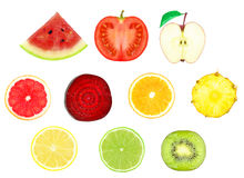 Fruit slices Royalty Free Stock Photos