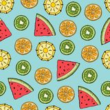 Fruit slices pattern royalty free illustration
