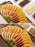 Fruit slices and sweets on a bowl Royalty Free Stock Photography