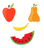Fruit smile face. Vector illustration Stock Photo