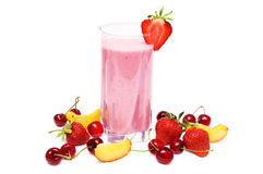 Fruit smoothie royalty-vrije stock foto's