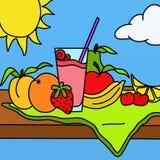 Fruit smoothie Royalty Free Stock Photos
