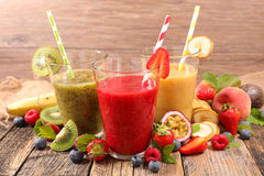Fruit smoothie stock afbeelding