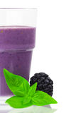 Fruit Smoothie with basil Stock Photo