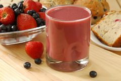 Fruit smoothie with bread Stock Photography