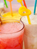 Fruit smoothie collection Stock Photos