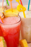 Fruit smoothie collection Stock Photography