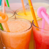 Fruit smoothie collection Royalty Free Stock Photo