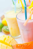 Fruit smoothie collection Royalty Free Stock Photography