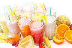 Fruit smoothie collection Stock Image