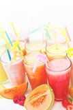 Fruit smoothie collection Stock Images