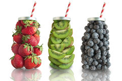 Fruit smoothie concept Royalty Free Stock Photos