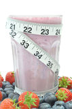 Fruit smoothie diet Royalty Free Stock Images