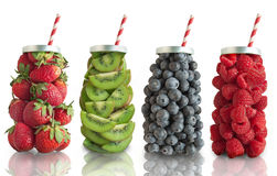 Fruit smoothie flavours concept Royalty Free Stock Photography