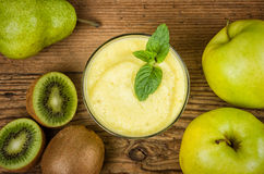 Fruit smoothie with ingredients Stock Image