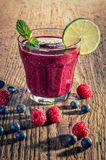Fruit smoothie made from wild berries Royalty Free Stock Photography