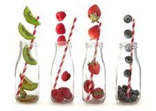 Fruit smoothie making concept Stock Photos