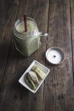 Fruit smoothie on table Stock Photos