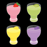Fruit smoothie vector Royalty Free Stock Photo