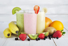 Fruit smoothies royalty-vrije stock foto's