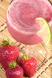 Fruit smoothis with a lime. Royalty Free Stock Photography
