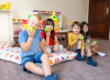 Fruit snack time Stock Images